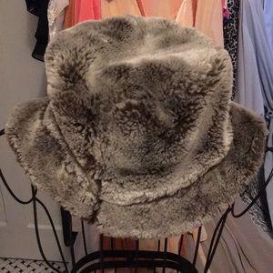Vintage Chenille Faux Fur Hat